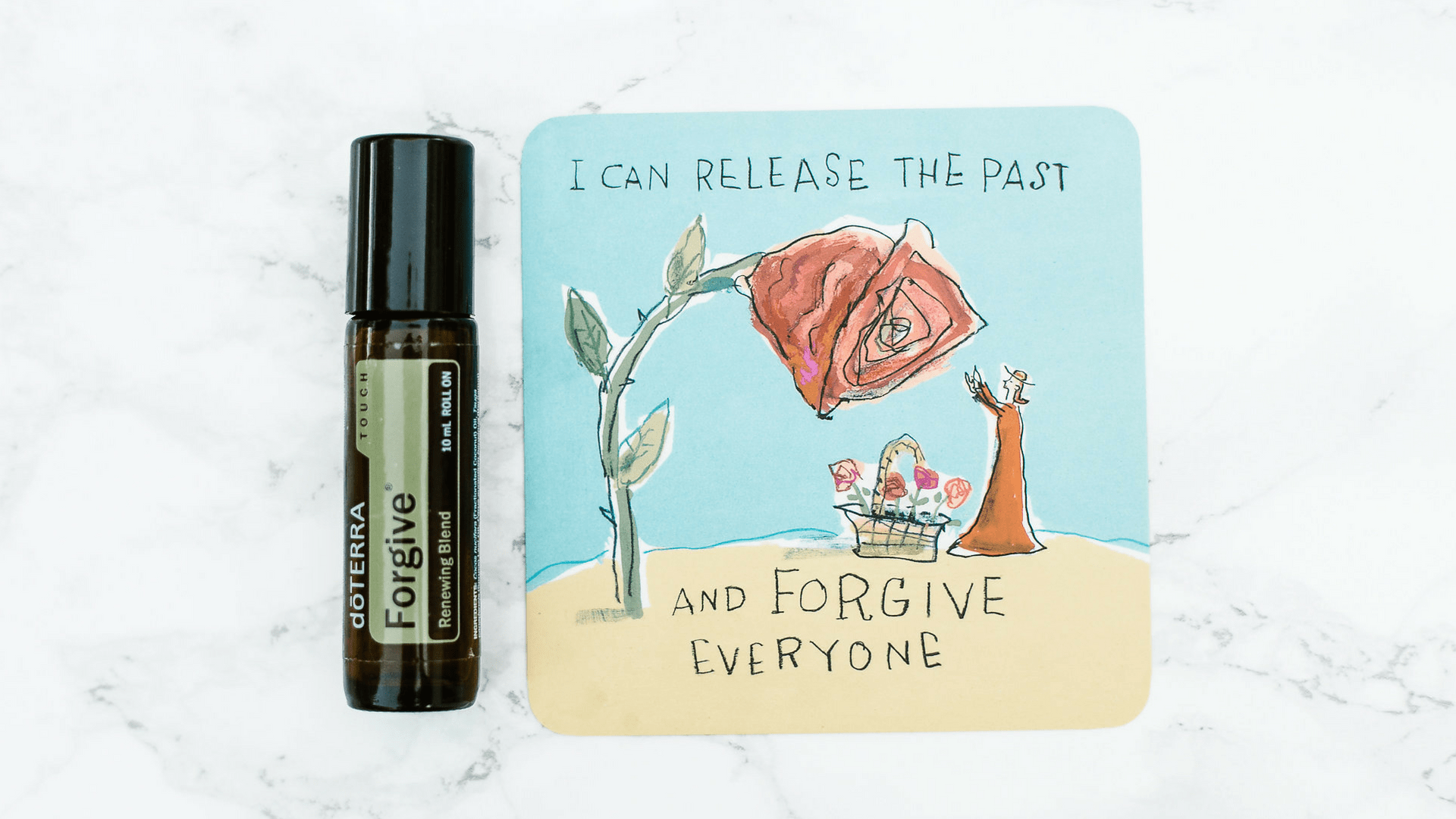 Forgive Essential Oil rollerball with affirmation I can release the past and forgive everyone