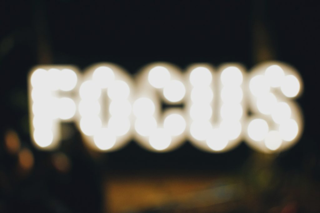 """The word""""focus"""" out of focus"""