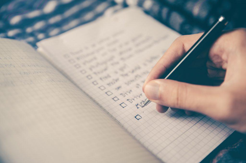 Hand writing a billeted list