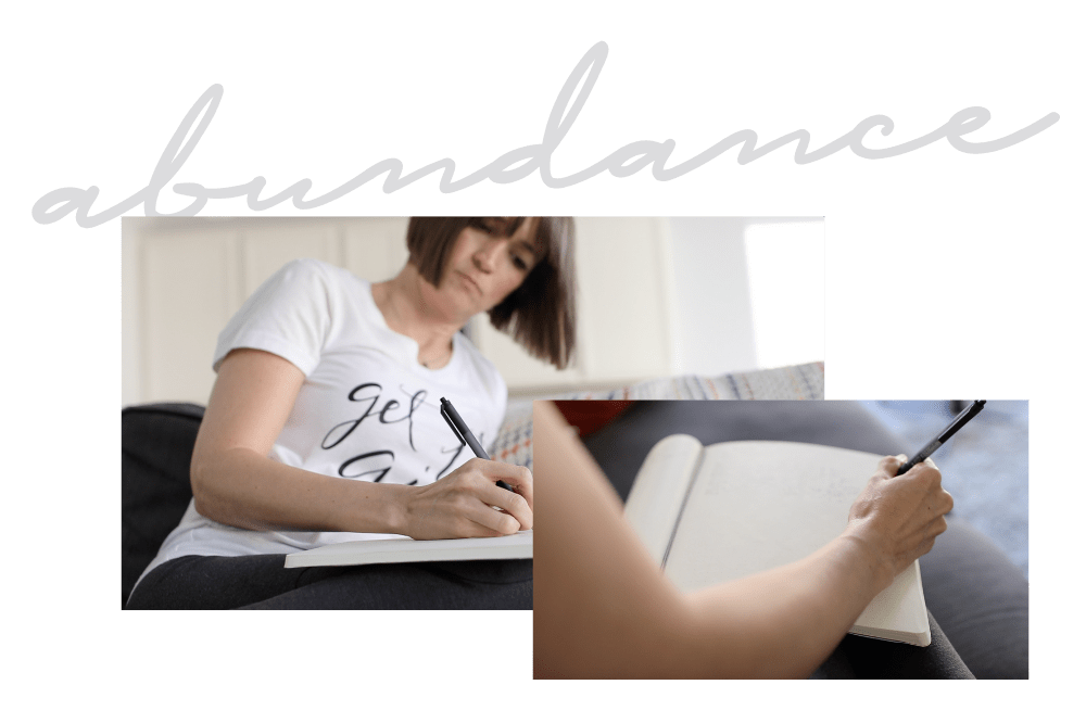 Abundnce guiding word - journaling for New Years intentions