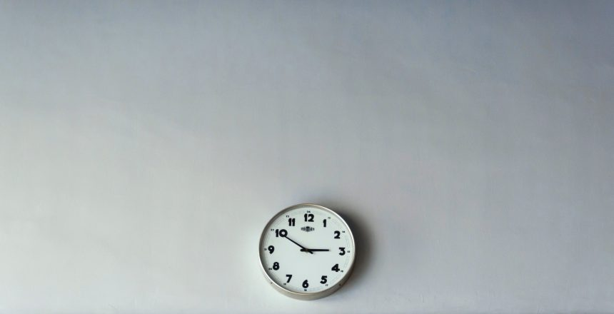 Clock on the wall at 3:50